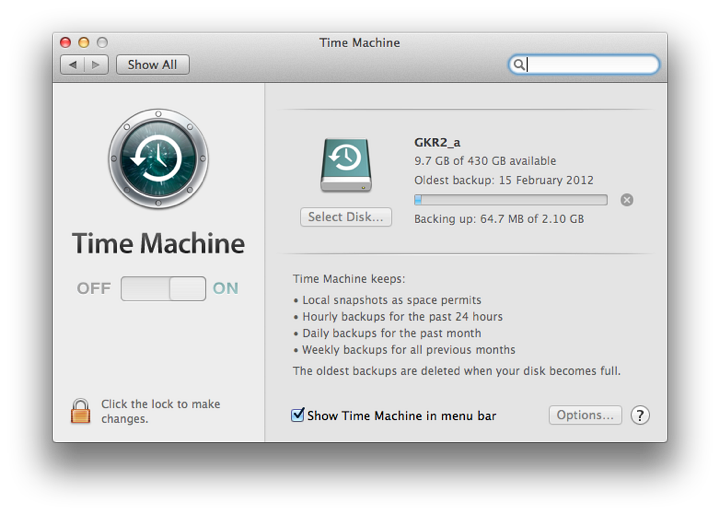 does time machine backup applications