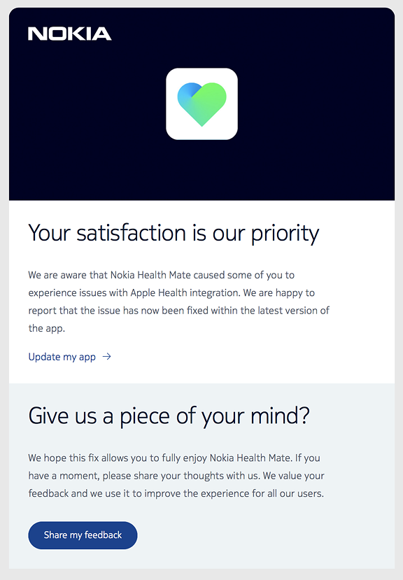 I Immediately Downloaded The Update To App And Within A Few Minutes Data Began Appear In Apple Health So Has Apparently Been Successful