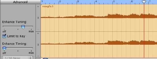 how to change female to male voice in garageband