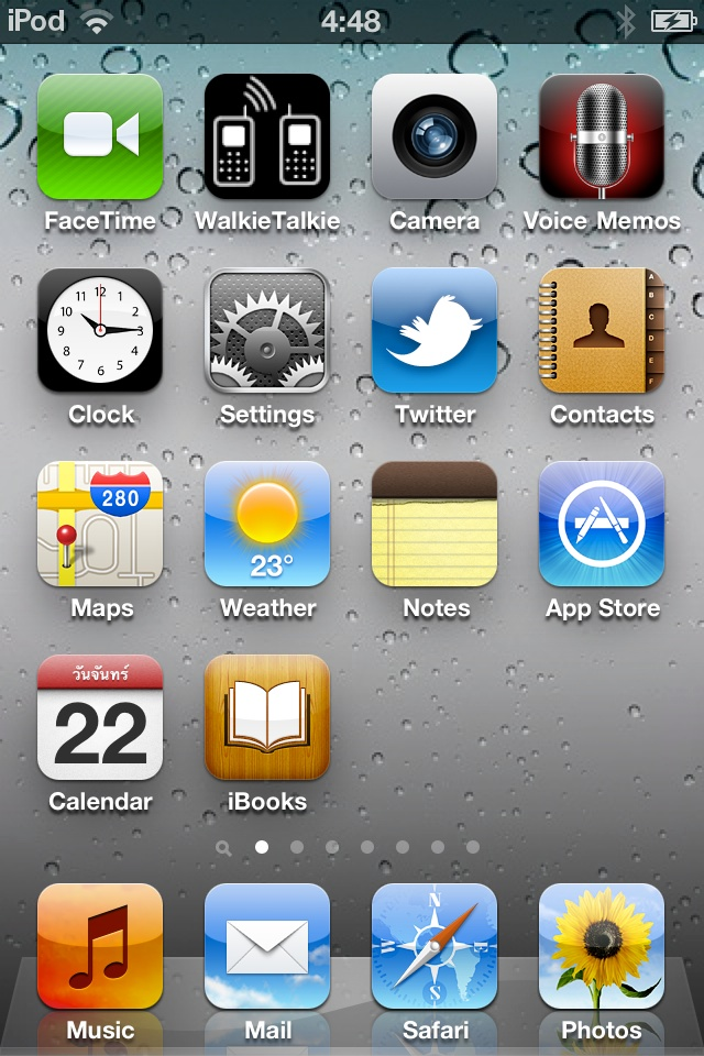 Home screen pictures on ipod.